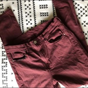 BDG Urban Outfitters Maroon Jeans